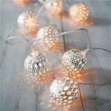 Buy Cheap 2M 20 Led Metal Moroccan Ball String Lights Led Fairy Lights Christmas Halloween Warm White Intl