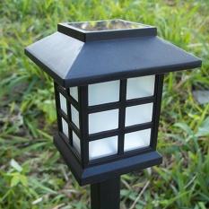 2pc Solar Power Wall Mount LED Light Outdoor Garden Path Landscape Lamp - intl