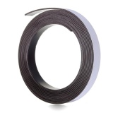 Cheaper 2Pcs 3M Self Adhesive Rubber Magnetic Tape Magnet Strip 12 7Mm 1 2Inch Wide X 1 5Mm