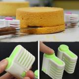 2Pcs 5 Layers Diy Cake Bread Cutter Leveler Slicer Cutting Fixator Tools Lowest Price