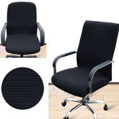 2Pcs Arm Chair Cover Three Sizes Office Computer Chair Cover Side Zipper Design Recouvre Chaise Stretch Rotating Lift Chair Cover