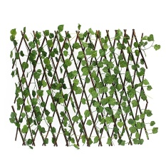 2Pcs Expandable Artificial Ivy Leaf Fence Decor Privacy Screen Patio Yard Garden - intl