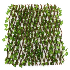 2Pcs Expandable Artificial Ivy Leaf Privacy Fence Screen Windscreen Single Side - intl