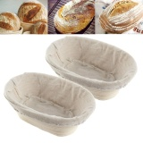 2Pcs Handmade Oval Banneton Brotform Bread Dough Rising Proofing Rattan Basket Intl For Sale Online