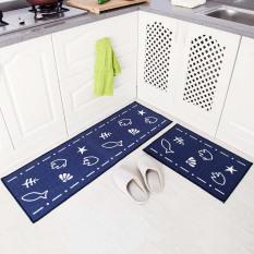 Cheapest 2Pcs Lot Kitchen Floor Mat Anti Slip Long Bath Doormat Bedroom Living Room Carpet Home Decor Fish 40X60Cm And 40X120Cm