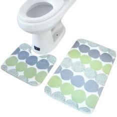 2pcs Rug Memory Foam Bathroom Rug Mat Floor Carpet Set - Intl By Cocolmax.