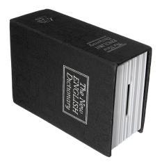 2pcs Secret Dictionary Book Cash Money Jewelry Storage Security Box Safe + 2 Lock Key black - intl