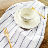 Buy 2Pcs Set 100 Cotton Classical Striped Everyday Basic Buffet Party Cloth Napkin Table Placemat Kitchen Dish Tea Towels 15 7 X 23 6 Navy Blue And White Fine Stripes Intl China