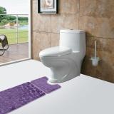 Discount 2Pcs Set Bath Non Slip Mat Toilet Contour Cover Rug Bathroom Floor Stone Pattern Intl
