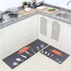Compare 2Pcs Set Non Slip Kitchen Rugs Floor Mats Water Absorbing Bath Rug Carpets For Bedrooms Durable Entrance Doormat 40X60Cm And 40X120Cm Intl Prices