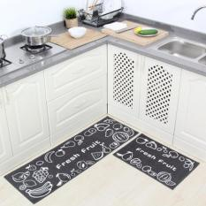 Cheap 2Pcs Set Non Slip Kitchen Rugs Floor Mats Water Absorbing Bath Rug Carpets For Bedrooms Durable Entrance Doormat 40X60Cm And 40X120Cm Intl Online