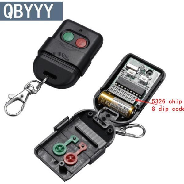 2pcs Singapore malaysia 5326 330mhz dip switch auto gate duplicate remote control key fob(Black)-intl