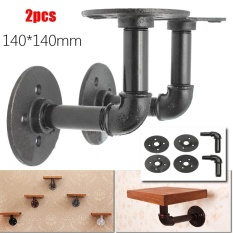 Retail Price 2Pcs Steampunk Industrial Iron 3 4 Pipe Shelf Bracket Holder Retro Styles Intl