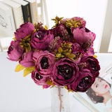 Buy Cheap 2Pcs Vintage Artificial Peony Silk Flowers Bouquet Artificial Flowers Intl