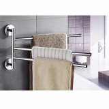 Price 3 Arm Wall Mounted Stainless Steel Folding Arm 360 Degree Rotating Bars Bathroom Towel Racks Hanger Holder Storage Organizer For Bathroom Space Saving Wall Mount Brushed Finish Intl Oem China