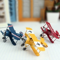 3 in 1 Home Decorations Vintage Crafts Stylish Plane Pattern Ornaments for Living Room (multicolor) - intl