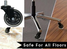 3-Inch Office Chair Caster Wheels Heavy Duty & Safe for All Floors - intl
