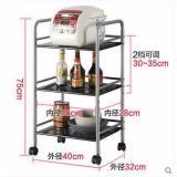 Price 3 Layer Metal Mesh Multifunctional Storage Shelving Rack For Kitchen Living Room Singapore