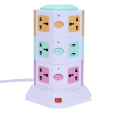 Discount 3 Layer Smart Electrical Plugs Vertical Power Socket Outlet 2 Usb Ports Multicolor Uk Plug Intl Vakind On China