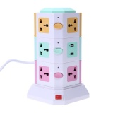 Shop For 3 Layer Smart Electrical Plugs Vertical Power Socket Outlet 2 Usb Ports Multicolor Us Plug Intl