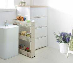 Buy 3 Layers 4 Colors White Gap Storage Shelf For Kitchen Storage Skating Movable Plastic Bathroom Shelf Save Space Rack Intl Asian Trends Original