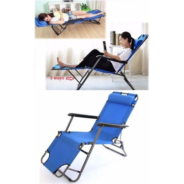 3 position foldable Chair/Beach Chair Outdoor/Lying Bed/Reclining Chair