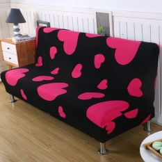 3 Seats Sofa Cover Slipcover Armless Settee Couch Elastic Sofa Bed Chair Cover Flower#5 - intl