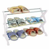 Sale 3 Tiers Metal Shoe Rack Storage Organizer Stand Fabric Shelf Holder Stackable Intl Online China