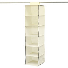 Where Can You Buy 30 30 120Cm 6 Shelf Hanging Wardrobe Storage Bag Underwear Clothes Shelf Beige