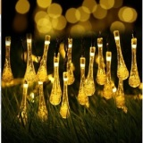 Retail 30 Led 6M Waterproof Decorative Water Drop Solar Powered String Lights For Gardens Homes Christmas Partys Weddings Outdoor Indoor Intl
