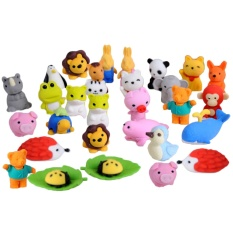 30 Pcs 30 Styles Funny Puzzle Animals Pencil Erasers Puzzle Toys For Party Favors Games Prizes Carnivals Gift School Supplies - Intl By Vococal Shop.