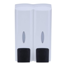 Price 300Mlx2 Abs Soap Shampoo Bathroom Double Pump Wall Mount Lotion Dispenser White Intl China