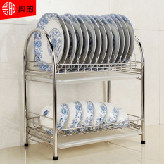 Sale 304 Stainless Steel Kitchen Dish Rack Drain Rack Dishes Dish Rack Drain Dish Rack Plate Supplies Storage Box Shelving Rack