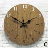 30Cm 12Inches Simple Black Wooden Wall Clock Classic Round Silent Clocks Home Decor Intl Promo Code