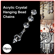 30Pcs Acrylic Crystal Garland Prisms Hanging Bead Wedding Party Decor Cheap