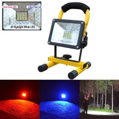 Low Price 30W 24 Led Portable Rechargeable Flood Light Spot Work Camping Fishing Lamp Intl