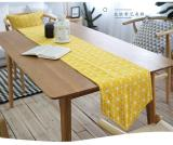 How Do I Get 30X220Cm Cotton Triangle Gemoetric Rustic Home Decor Table Runner Yellow Intl