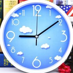 31cm Noiseless Design Cartoon Style Wall Clock - intl
