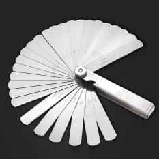 32 Blades Offset Stainless Steel Feeler Gauge Set Dual Marked Metric And Imperial Gap Measuring Tool 0.02-1.0mm - Intl By Vococal Shop.