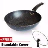 Deals For 32Cm Extra Non Stick Layer Pan Deep Wok Frying Pan Flat Bottom Cookware