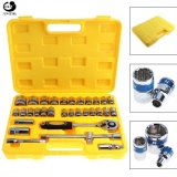 Purchase 32Pcs Set 1 2Inch Motorcycle Car Repair Tool Box Precision Socket Wrench Set Ratchet Torque Wrench Combo Kits For Auto Repairing Intl