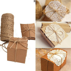 Mecola 33M Christmas Hemp Rope Cord Marline for Wedding Favors Candy Boxes DIY Decor Brown intl - intl