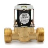 Promo 3 4 Inch Npsm 12V Dc Vdc Slim Brass Electric Solenoid Valve Gas Water Air N C Gold Intl