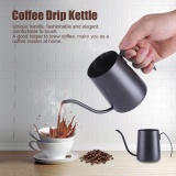 Wholesale 350Ml Stainless Steel Pour Hand Coffee Drip Pot Long Gooseneck Spout Kettle Black Intl