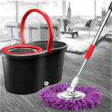 Buy 360 Degree Retractable Magic Spin Mop Stainless Steel Dual Drive Rotation Mop With Bucket Clean Tools Housewares 2 Heads Microfiber Rotating Black Oem Original