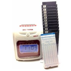 360 Time Recorder Punch Card Machine Full Set Intl Oem Discount