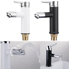 360°Rotating Water Tap Basin Kitchen Bathroom Wash Basin Faucet Paint Black Intl Deal