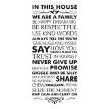 360Dsc House Rules In This House We Are A Family Be Happy Dream Big Inspirational Quotes Waterproof Removable Pvc Vinly Wall Sticker Home Art Decor Decal 55 120Cm Free Shipping