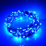 Sale 39Ft 12M 240Ed Waterproof Battery Operated Led String Lights 5Modes Copper Wire Fairy Lights For Chrismas Decoration Night Lamp Blue Online On China
