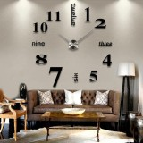 Compare 3D Diy Wall Clock Modern Home Decoration Mirror Stickers Livingroom Tool Intl Prices